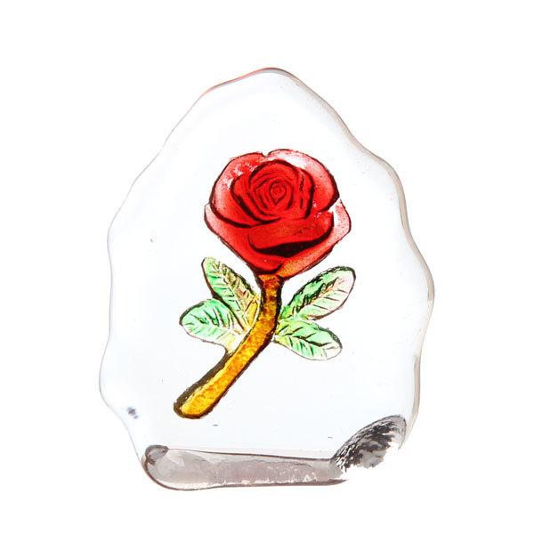Фигурка из стекла ″Роза″ 4,5 см купить оптом и в розницу