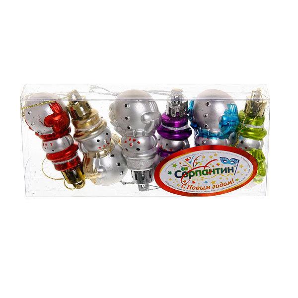 Ёлочные игрушки, набор 6шт, 5,5см″Снеговички″ купить оптом и в розницу