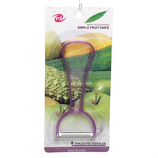 Овощечистка поперечная прозрачная цветная ручка купить оптом и в розницу