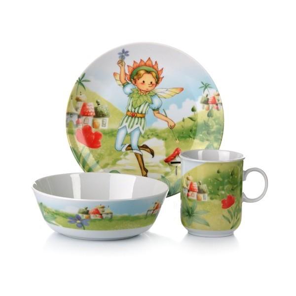 Набор детской посуды 3 предмета ″Веселый эльф″ купить оптом и в розницу