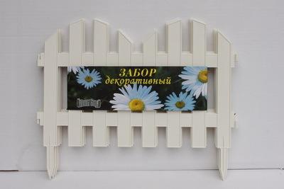 Забор декоративный № 4 (30*300) белый 1/5 купить оптом и в розницу
