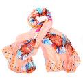 Палантин женский ″Цветы″, цвет оранжевый, 180*100см купить оптом и в розницу