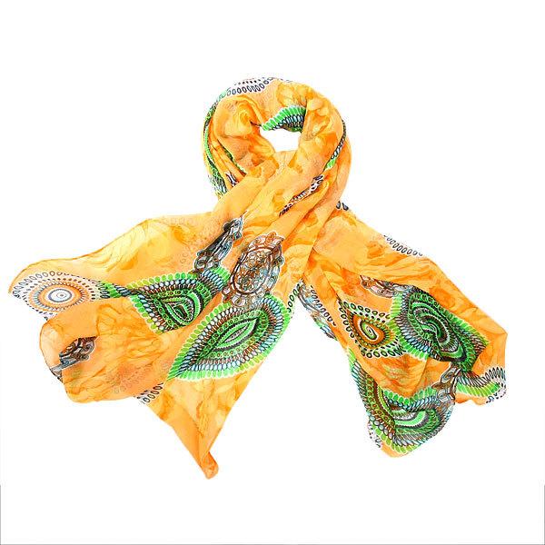Палантин женский ″Звезды″, цвет желтый, 100*180см купить оптом и в розницу