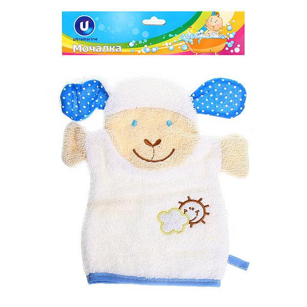 Мочалка-варежка для тела детская ″Овечка″, мягкая 18*11см купить оптом и в розницу