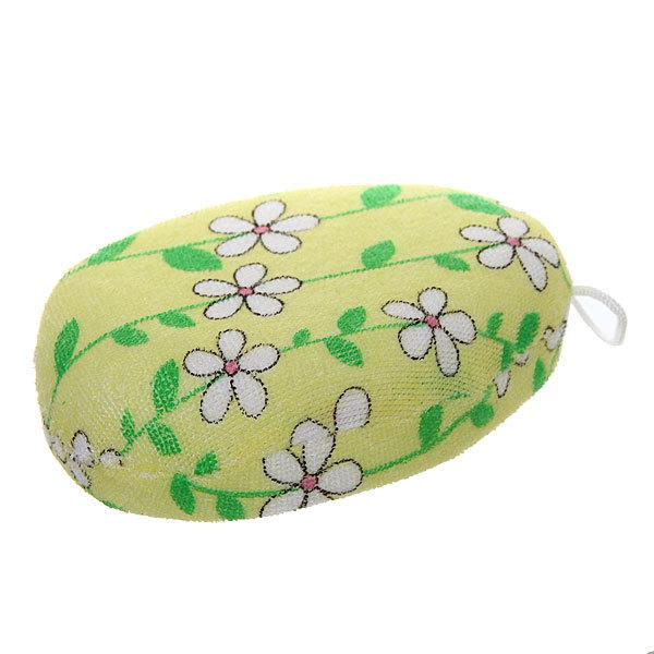 Губка для тела текстильная мягкая ″Цветочки″ купить оптом и в розницу