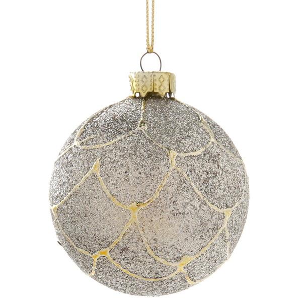 Новогодние шары ″Снежный ком″ 6см (набор 6шт.) купить оптом и в розницу