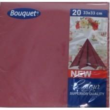 Салфетки бумажные 3сл. 20л ″Bouquet Solid Colour″ бордовые купить оптом и в розницу
