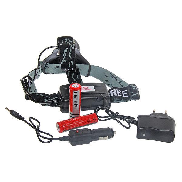 Фонарь налобный рыбацкий, 3+3 LED, 1W свет белый+синий, аккумуляторная батарея купить оптом и в розницу