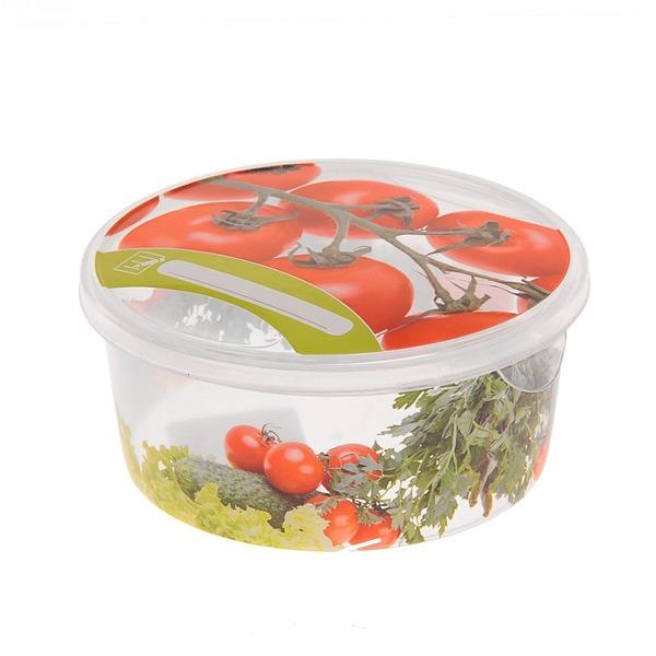 Емкость для продуктов Браво Овощи круглая 0,5 л *50 купить оптом и в розницу