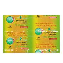 Пластина от комаров Зеленая АНТИКОМАР б/зап. 10шт/200 64832 купить оптом и в розницу