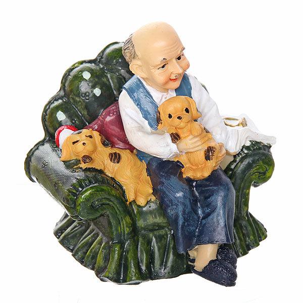 Фигурка Дедушка в кресле отдыхает″ 10,5*7см LG065В купить оптом и в розницу