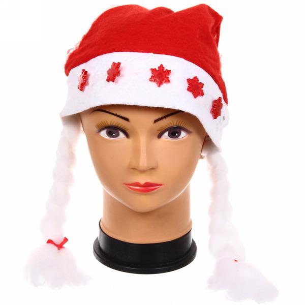 Колпак новогодний световой″Снежинки″ 28*38см купить оптом и в розницу