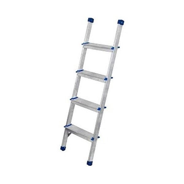 Лестница приставная алюминиевая 4 ступени, шаг ступени 23 см купить оптом и в розницу