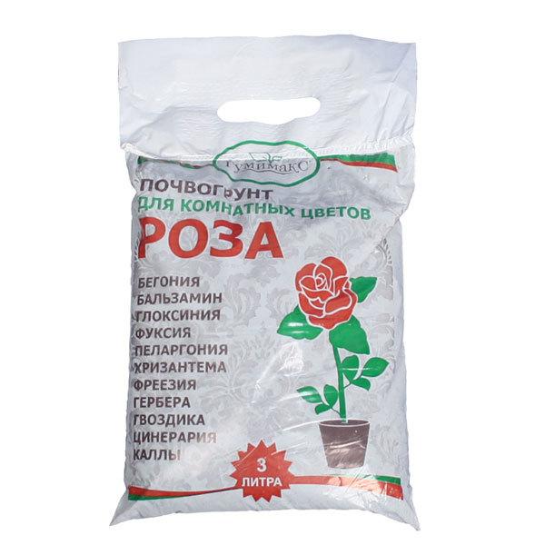 Гумимакс почвогрунт Роза (для комнатных цветов) 3 л (Р) купить оптом и в розницу