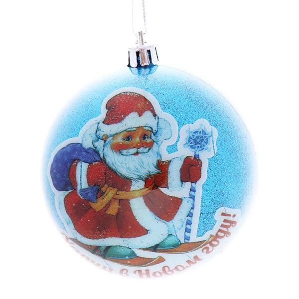 Новогодние шар ″Дед Мороз″ 8см купить оптом и в розницу