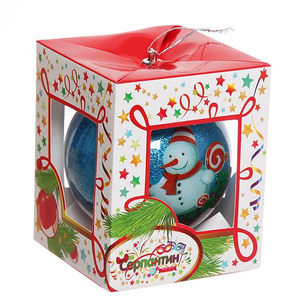 Новогодний шар ″Снеговичок с пожеланием″ 8см купить оптом и в розницу