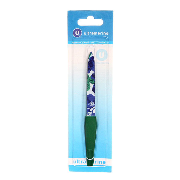 Пилка для ногтей металлическая на блистере ″Ультрамарин″, цвет ручки микс, цвет пилки микс,15,5см купить оптом и в розницу