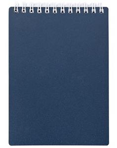 """Блокнот А5 80л.кл.гребень,пласт.обл.HATBER, """"METALLIC Темно-синий"""" купить оптом и в розницу"""