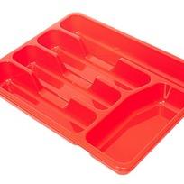 Лоток для столовых приборов красный *36 купить оптом и в розницу