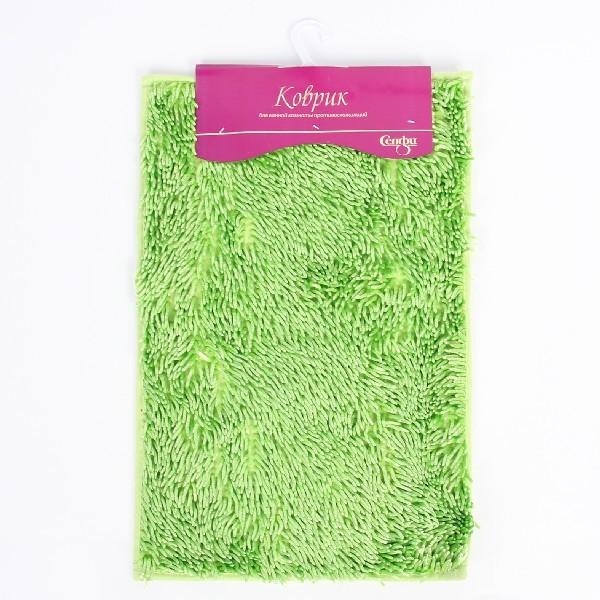 Коврик для ванны Селфи 40*60 h 2.8см букли зеленый купить оптом и в розницу