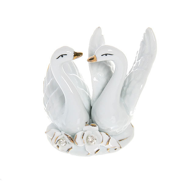Фигурка керамическая ″Лебеди″, 9,5*9см купить оптом и в розницу