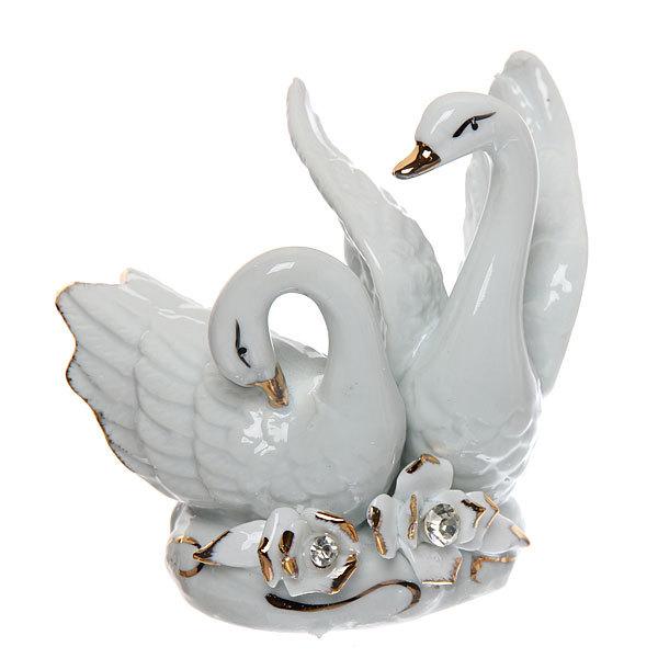 Фигурка керамическая ″Лебеди″, 9,5*10см купить оптом и в розницу