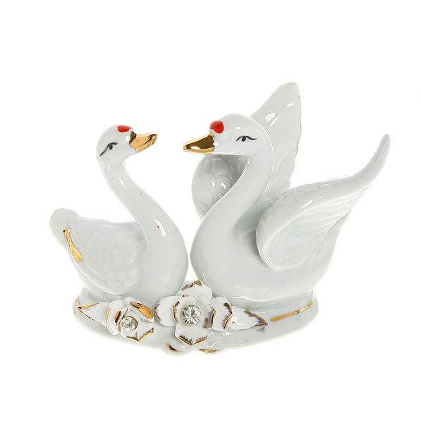 Фигурка керамическая ″Лебеди″, 10*14см купить оптом и в розницу