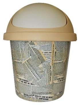 Корзина для мусора 10 л Газета*10 купить оптом и в розницу