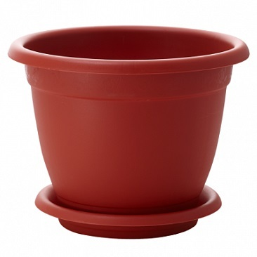Горшок для цветов Борнео D 210 mm с подставкой №4 *40 купить оптом и в розницу