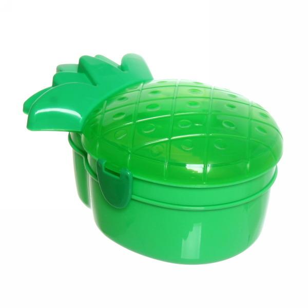 Ланч-бокс пластиковый 600 мл с тарелкой и ложкой ″Ананас″ 0620 купить оптом и в розницу