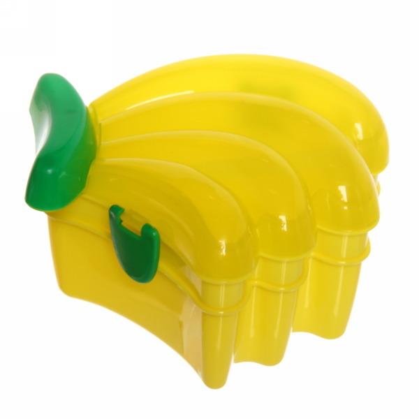 Ланч-бокс пластиковый 600 мл с тарелкой и ложкой ″Банан″ купить оптом и в розницу