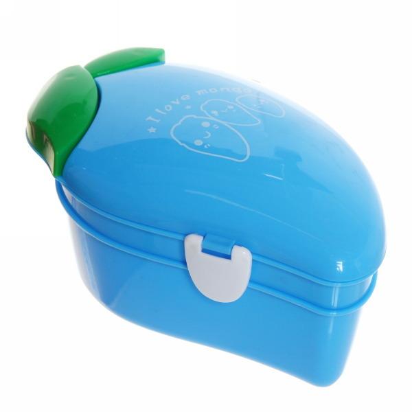 Ланч-бокс пластиковый 600 мл с тарелкой и ложкой ″Манго″ купить оптом и в розницу