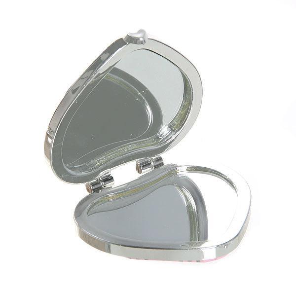 Зеркало косметическое под кожу ″Мода″ сердце, цвета в ассортименте купить оптом и в розницу