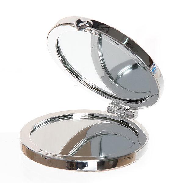 Зеркало косметическое под кожу ″Мода″ круг, цвета в ассортименте купить оптом и в розницу