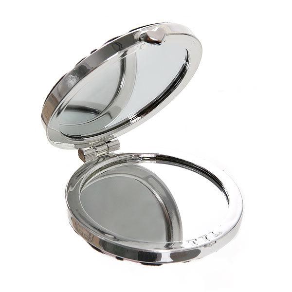 Зеркало косметическое под бархат ″Шаде″ круг, цвета в ассортименте купить оптом и в розницу