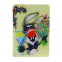 Магнит голограмма ″Веселый кролик″ 50х75мм купить оптом и в розницу