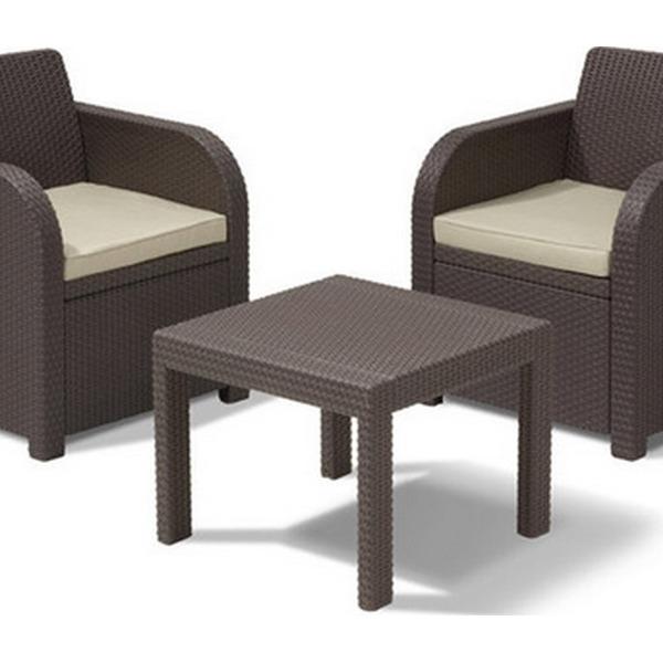 Набор мебели для балкона ALLEGRO BALCONY(2 стула, стол)  коричневый с подушками купить оптом и в розницу