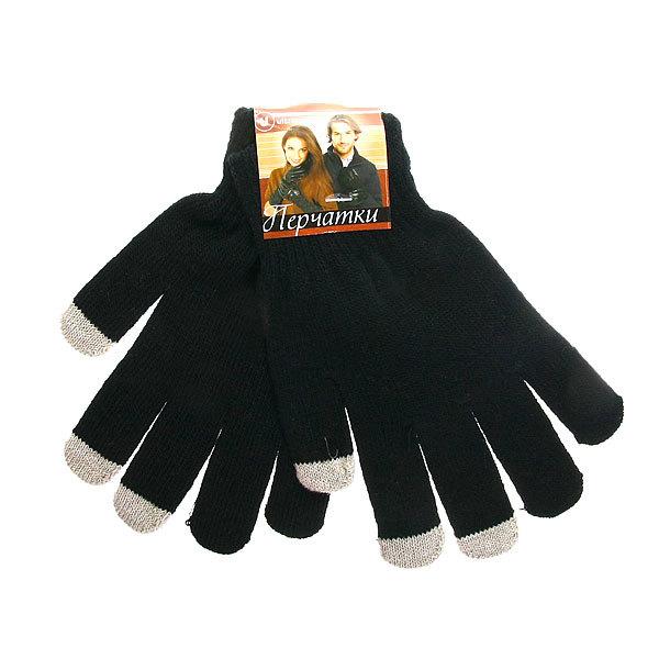 Перчатки однотонные ″Классика″ цвет черный, h-18см купить оптом и в розницу