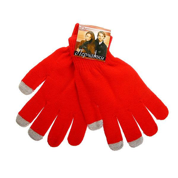 Перчатки однотонные ″Классика″ цвет красный, h-18см купить оптом и в розницу