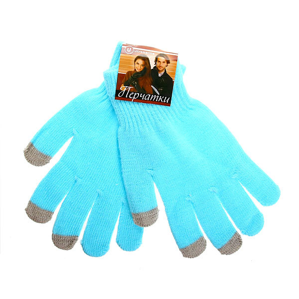 Перчатки однотонные ″Классика″ цвет голубой, h-18см купить оптом и в розницу