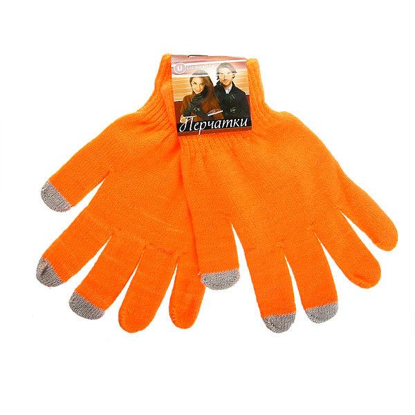 Перчатки однотонные ″Классика″ цвет оранжевый, h-18см купить оптом и в розницу