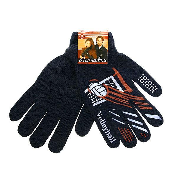 Перчатки мужские ″Ассорти″, цвет черный, рисунок в ассортименте h-21 см купить оптом и в розницу