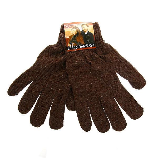Перчатки однотонные ″Классика-2016″ цвет коричневый, h-18см купить оптом и в розницу