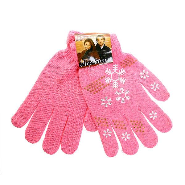 Перчатки молодежные ″Снежинки″ цвет в ассортименте h-19см купить оптом и в розницу