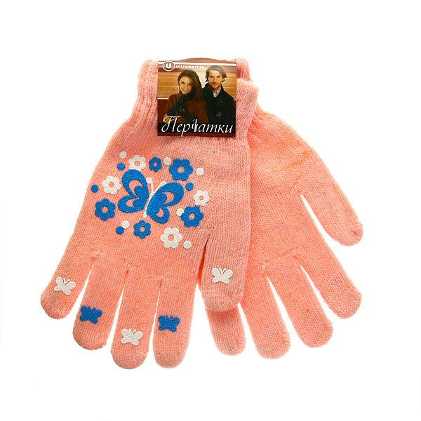 Перчатки молодежные ″Бабочки″ цвет в ассортименте h-17см купить оптом и в розницу