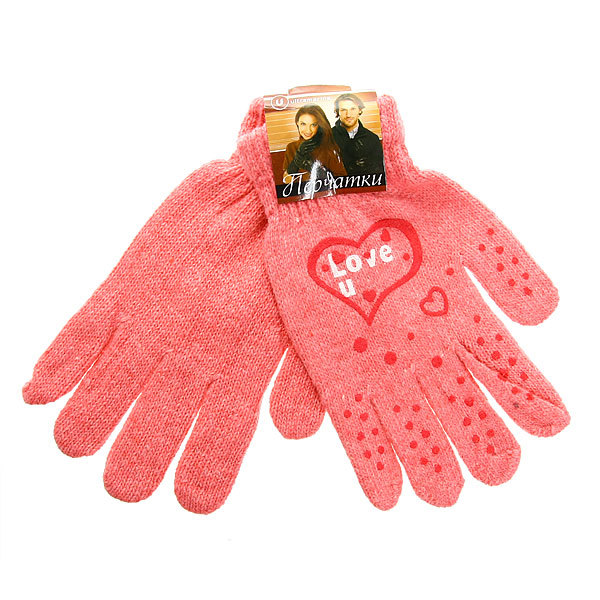 Перчатки молодежные ″Love″ цвет в ассортименте h-19см купить оптом и в розницу