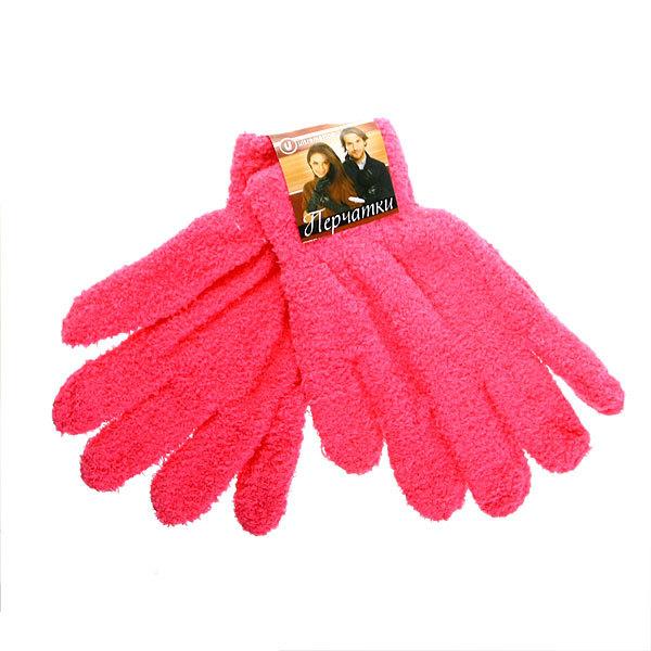 Перчатки махровые ″Зимушка″ цвет розовый, h-21см купить оптом и в розницу