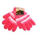 Перчатки женские ″Зимушка″ махровые в полоску, цв. розовый 702-8 купить оптом и в розницу