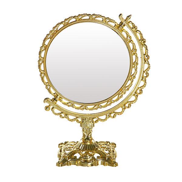 Зеркало настольное в пластиковой оправе ″Версаль - Круг″ цвет серебро, двухстороннее, с увеличением 18см купить оптом и в розницу