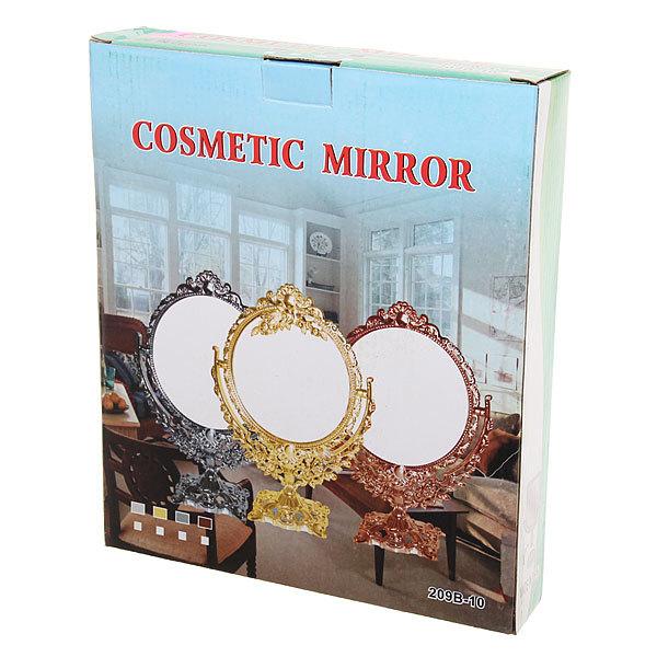 Зеркало настольное в пластиковой оправе ″Версаль - Сердце″ цвет золото, двухстороннее с увеличением 30см купить оптом и в розницу